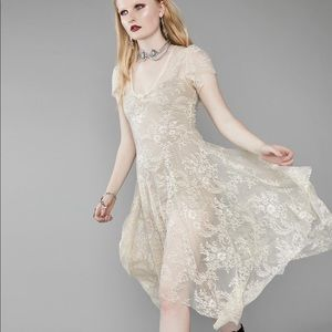 """Widow """"deadly departed"""" lace dress"""